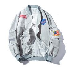 INS超火情侣外套春季嘻哈街舞国潮棒球服男女MA1空军飞行员夹克薄