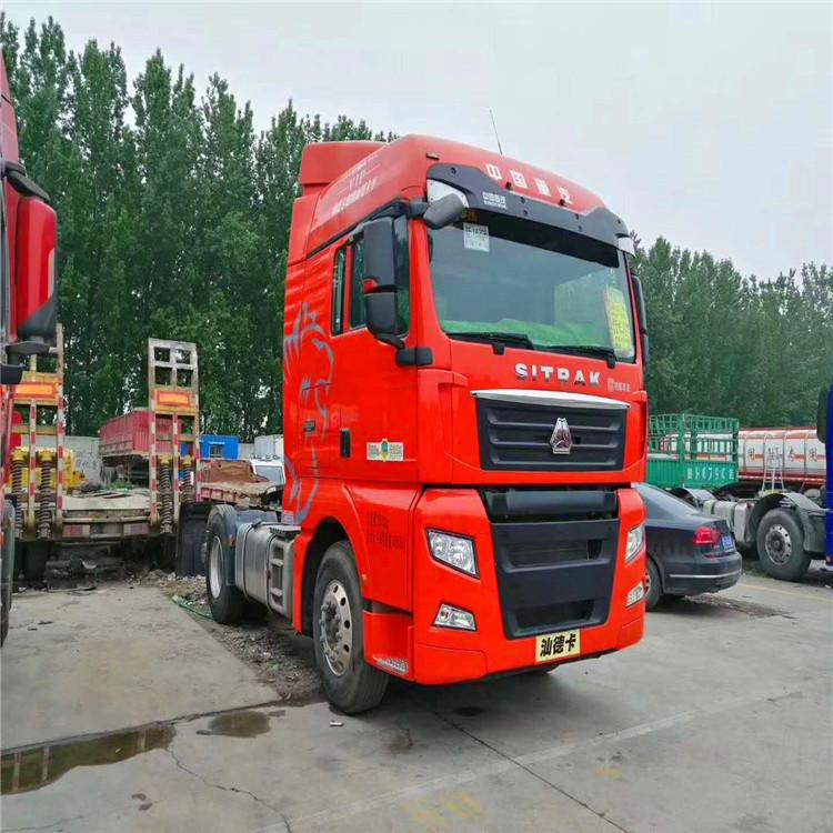 出售二手半挂牵引车 汕德卡牵引车头双驱540马力 陕汽德龙自卸车