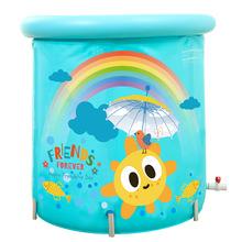 福广彩虹塑料支架可夹棉底保温婴儿宝宝游泳池加厚戏水球池