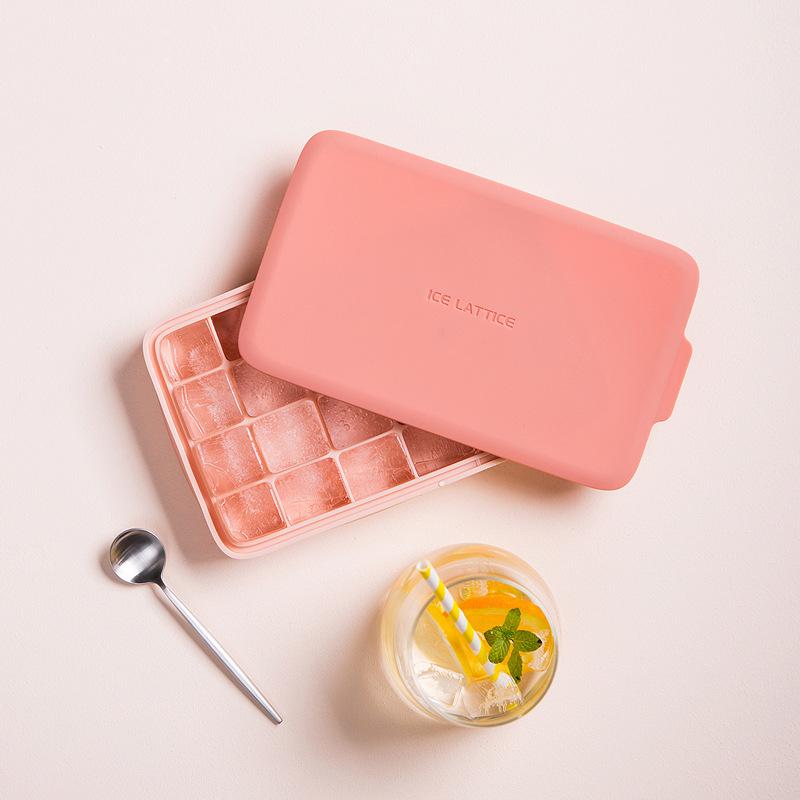 品沐設計 冰格凍冰塊制冰盒制作冷飲模具家用神器冰箱做大塊帶蓋