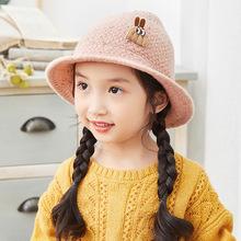 韩国秋冬新款男女宝宝盆帽韩版婴儿纯色渔夫帽毛线帽儿童小童帽子