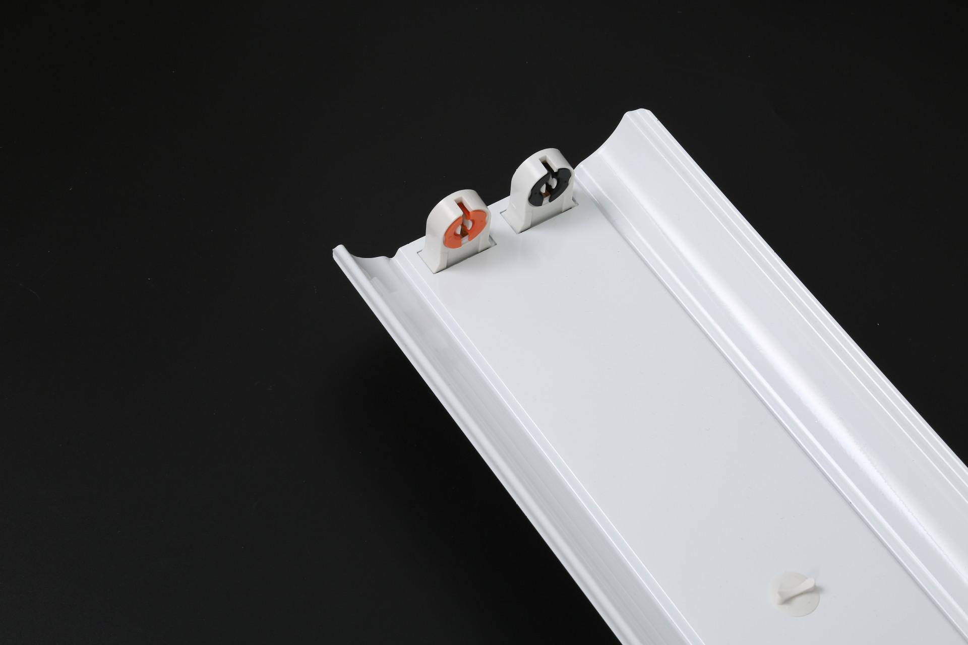 厂家生产T8支架双支带罩LED支架双管电感LED灯架消防应急工厂照明