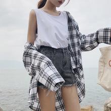 夏季2019新款简约?#21487;?#32972;心内搭U领外穿女装学生上衣白色打底衫潮