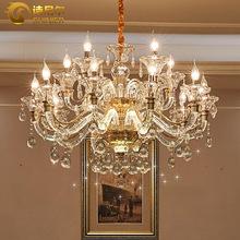 水晶吊灯欧式客厅吊灯简欧餐厅灯现代卧室灯大气奢华美式蜡烛灯具