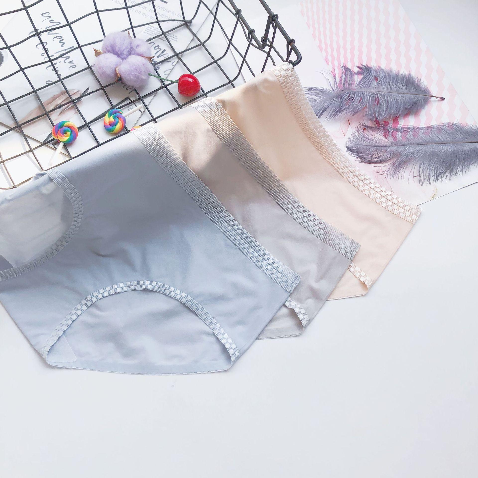 厂家无痕内裤女纯棉抗菌裆冰丝少女夏季透明超薄性感女士三角裤-