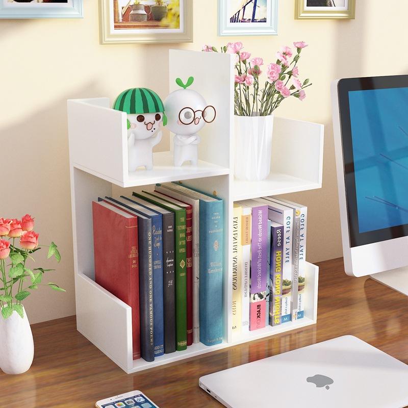多层小型书架简易书柜宿舍学生办公室桌面置物架儿童收纳书桌批发