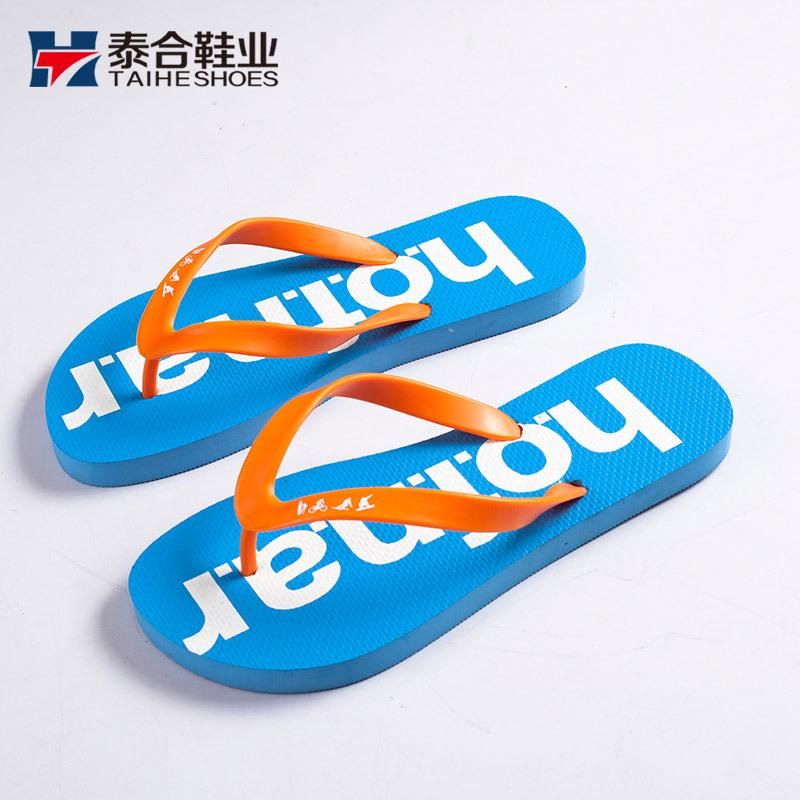 工厂定制出口拖鞋EVA人字拖女夏海边度假橡胶沙滩拖鞋diy来图来样