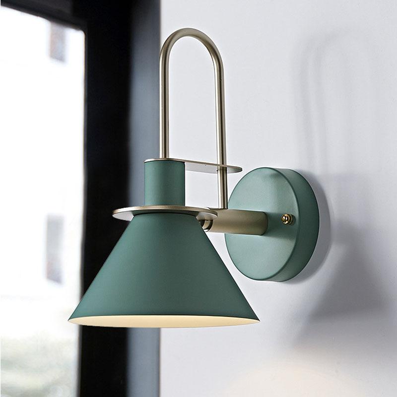 马卡龙号角壁灯现代床头壁灯LED卧室床头灯 酒吧餐厅室内过道壁灯