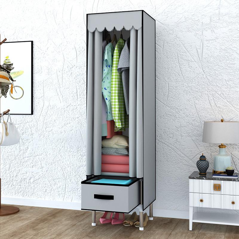 簡易衣柜單人抽屜式布衣柜無紡布加厚防塵廠家直銷迷你簡約39CM