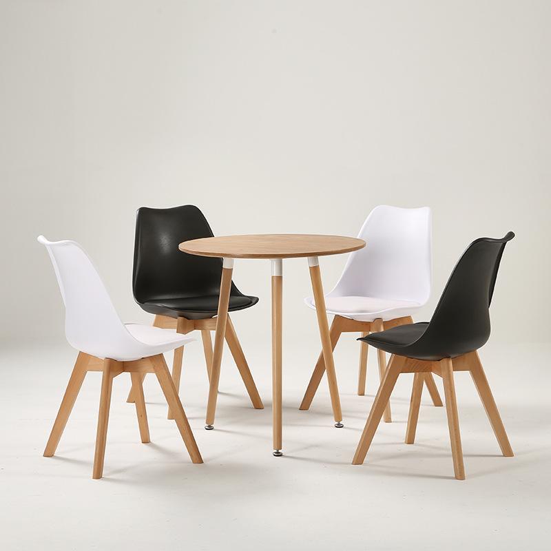 直销北欧实木洽谈餐桌椅组合现代简约小户型餐桌椅咖啡厅小圆桌子