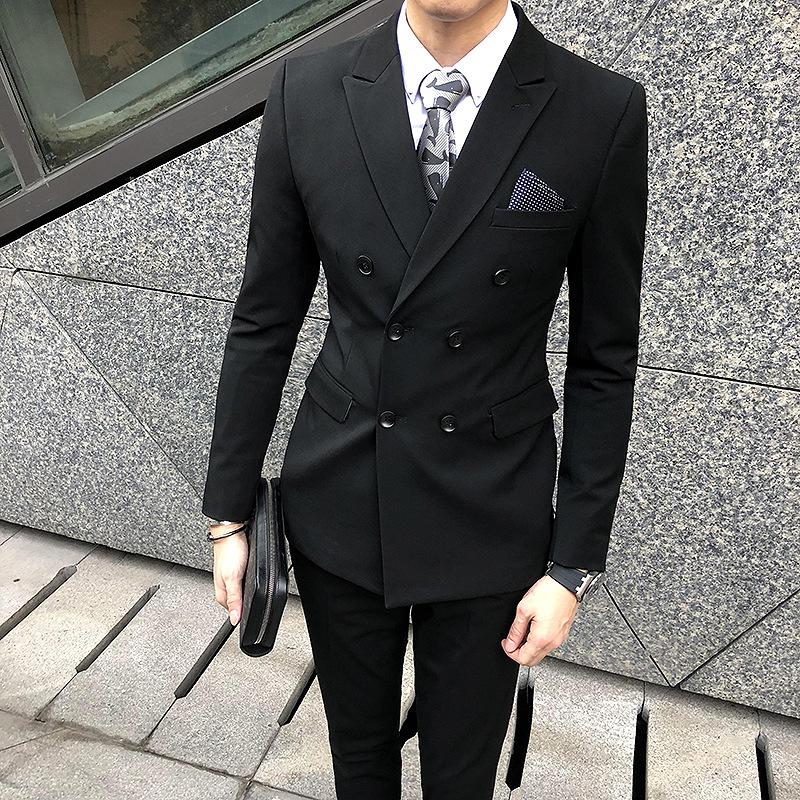 西服套装男士 韩版伴郎新郎结婚礼服正装修身职业休闲小西装男