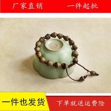 【青梅煮酒】小金钟菩提手工养生手链女宁气饰品茶绿手串