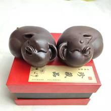黑檀木對豬擺件 黑檀木對象擺件批發十二生肖福豬大象木質工藝品