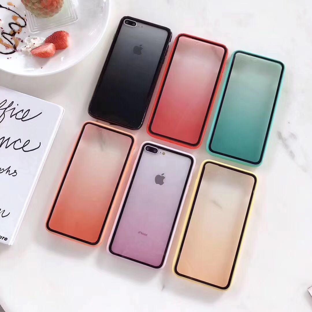 適用新款2019蘋果iPhone11proMax彩虹漸變高檔手機殼亞克力保護套