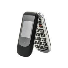 跨境專供翻蓋雙屏mobile phone外貿大聲音大按鍵功能老人手機座充