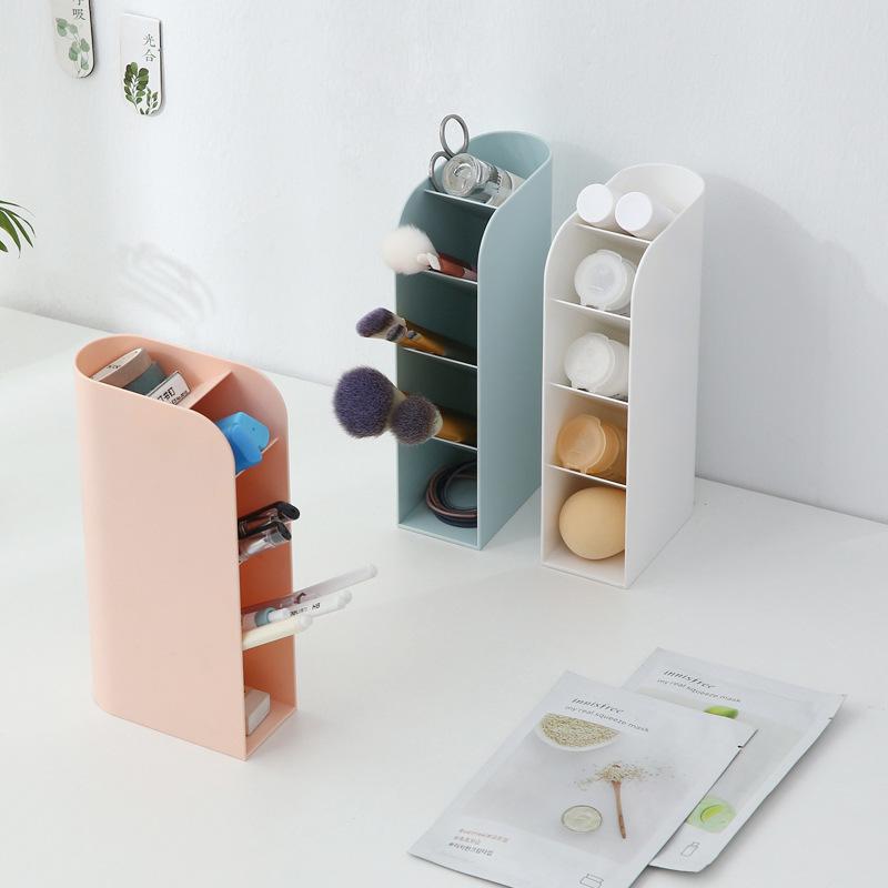 可立式桌面收纳盒塑料化妆多功能家居文具整理盒子笔筒学生笔盒