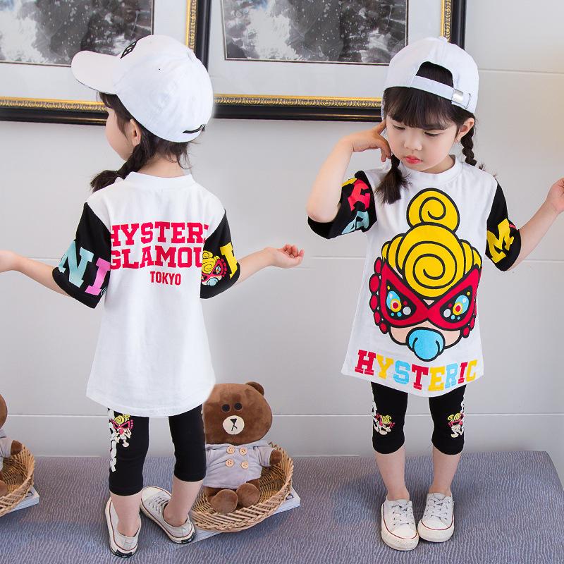 童套裝2020夏季短袖瑪麗純棉兩件套1-5歲6女寶寶兒童韓版夏款代發
