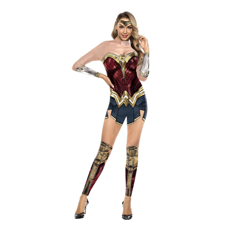 正义联盟cosplay神奇女侠cos连体服 舞台表演演出服男女同款现货