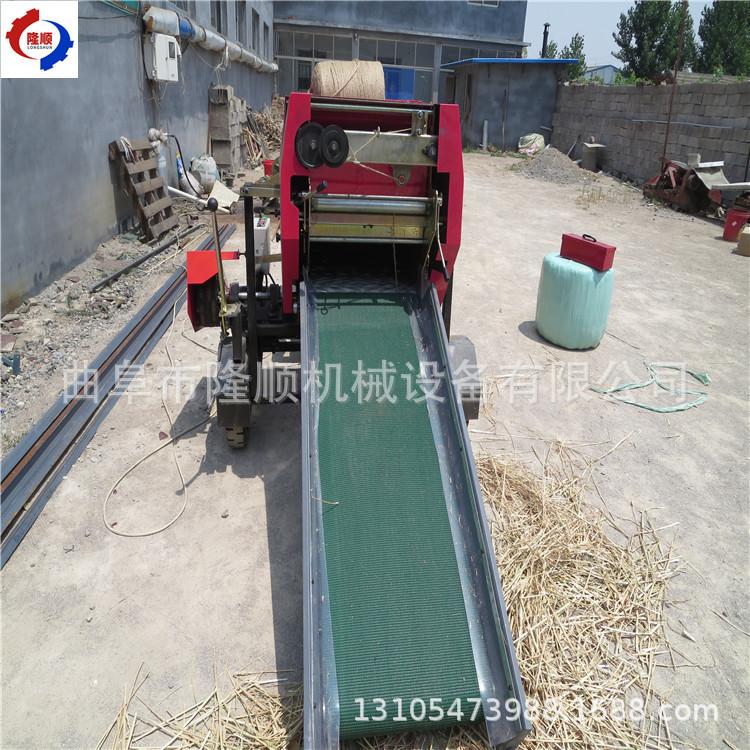 新疆牧草秸秆打捆机新疆养牛合作社饲料青储打捆包膜机
