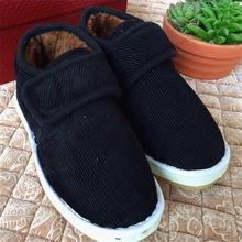 老 京 高 跟棉鞋男女 手工保暖鞋男女老人防滑加絨加厚保暖包根鞋