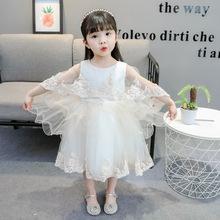 女童连衣裙夏2019新款韩版蓬蓬纱裙 儿童表演礼服公主裙一件代发