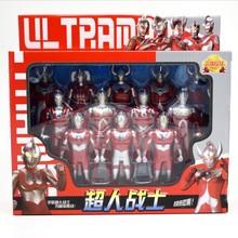 奧特曼超人家族盒裝超人戰士迪伽賽羅泰羅亞羅兒童玩具超人泰羅男