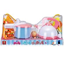 儿童益智早教厨房煮饭餐厨玩具DL974仿真披萨鸡蛋高压锅水壶套装