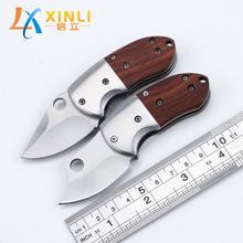 厂家促销迷你折叠刀户外多功能钥匙扣折刀高硬度小刀户外野营工具