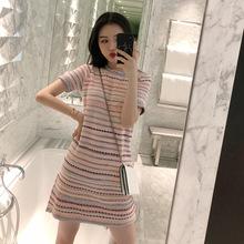 夏装2019新款哺乳韩版修身显瘦复古裙子高腰潮妈外出喂奶连衣裙