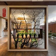 工業風實木屏風北歐客廳辦公室鐵藝簡約現代餐廳形象墻隔斷置物架