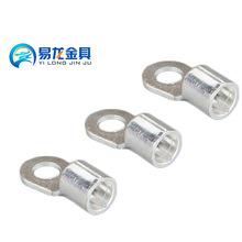 圆形冷压接线裸端头,铜线耳接线端子OT2.5-5铜鼻子接线耳,厂家