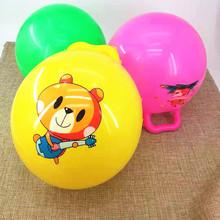 兒童玩具充氣球拍拍球幼兒園寶寶小孩手柄球卡通圖案彈力球小皮球