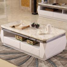 时尚大理石茶几电视柜钢琴烤漆客厅地柜组合大小户型创意整装家具
