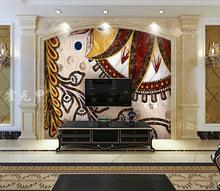 霍元甲瓷砖 简欧约装饰高仿大气大理石水刀马赛克拼花背景墙