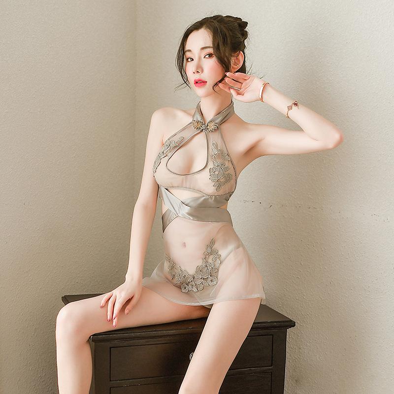新款蕾丝性感睡衣成人情趣内衣透视装外贸女诱惑网纱吊带睡裙8292