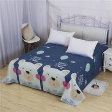 儿童床单男孩女孩卡通单人学生宿舍床1.2/1.5/1.8米床磨毛床单