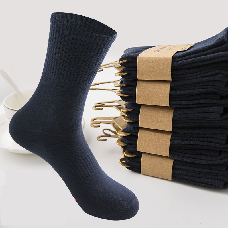 Qiu Dong of the canister in male pure cotton adds the sock complete cotton of man of thick deodorant