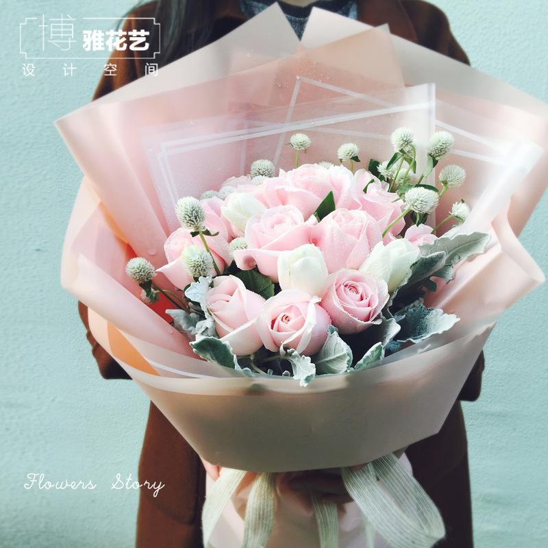 生日鲜花速递同城玫瑰花花店混搭花束杭州订绣球送花上门女友闺蜜