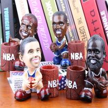创意个性笔筒工艺品篮球明星家居装饰 NBA球星?#26448;?#26031;库里人物摆件