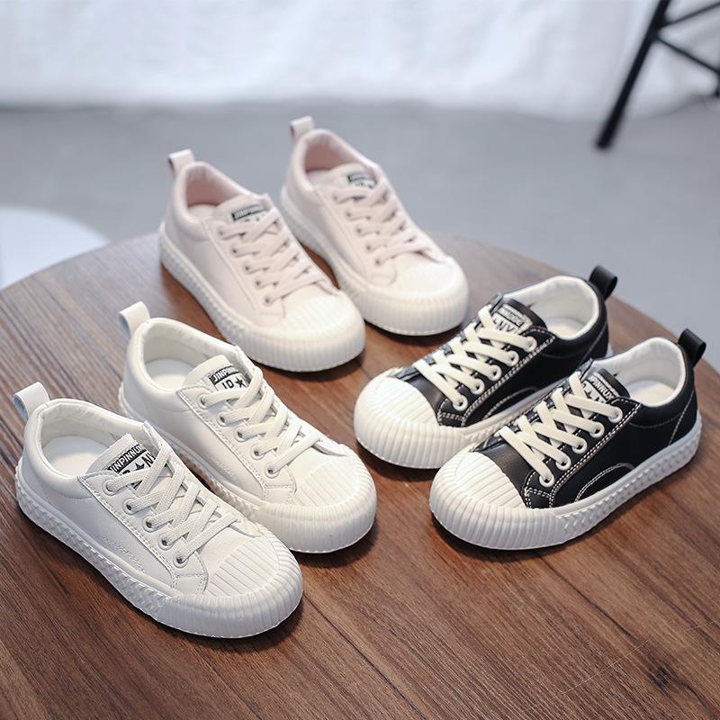 儿童饼干鞋春秋新款鞋小白板鞋牛皮儿童板鞋男童宝宝鞋女童休闲鞋
