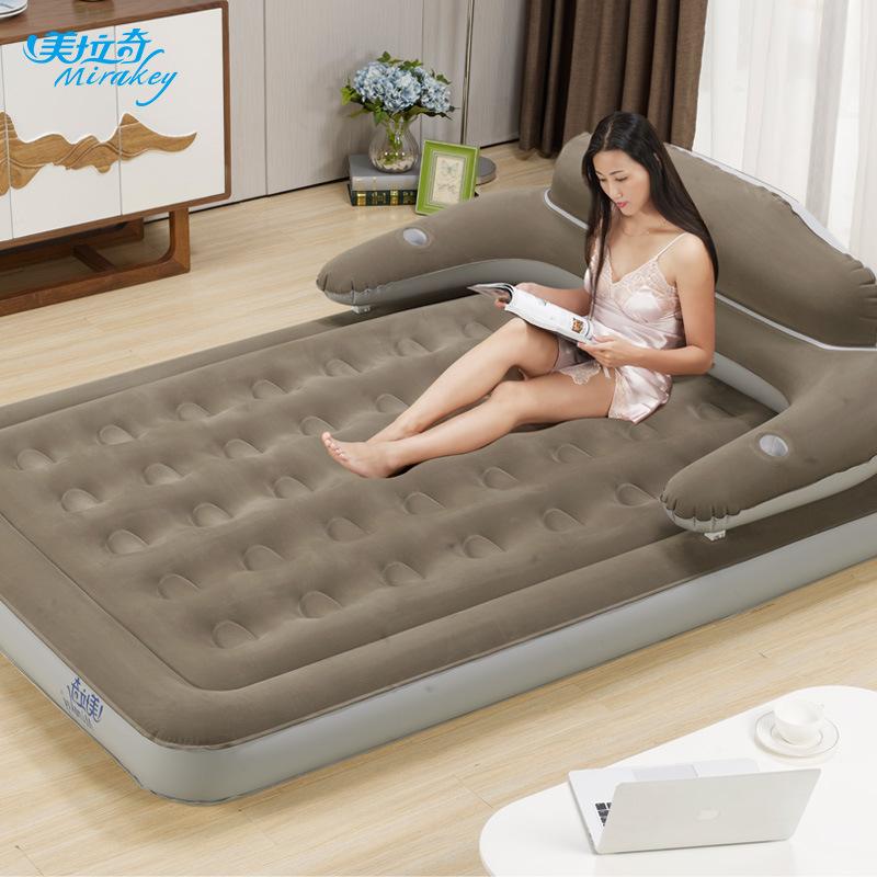 懒人沙发充气床垫卡通龙猫靠背床垫单人双人家用卧室气垫床榻榻米