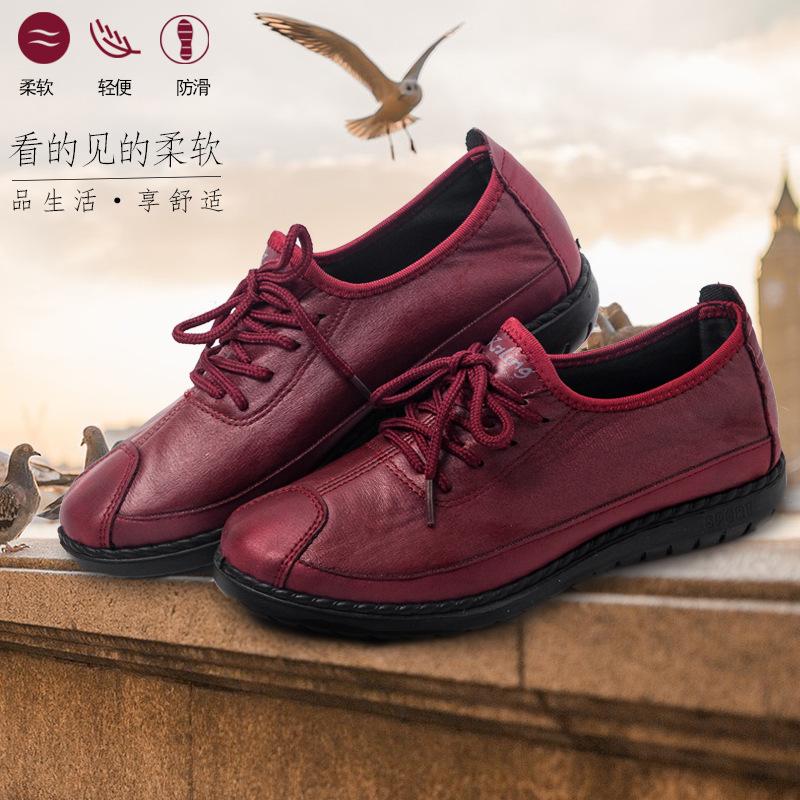 老北京布鞋女平跟休闲鞋正品中老年妈妈鞋软底防滑透气春秋布鞋女