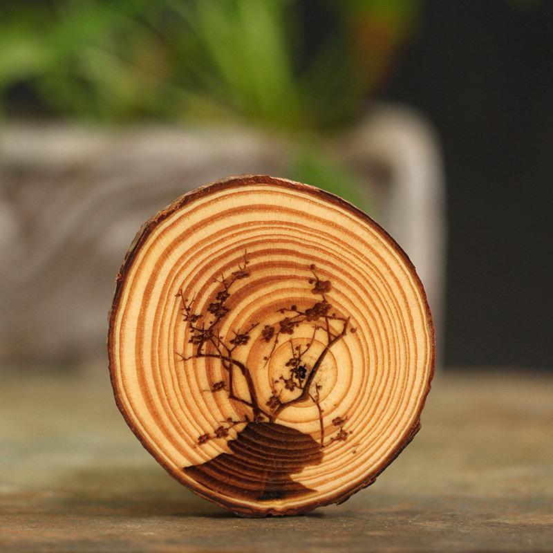 冰箱贴定制木质文创磁性定做创意?#38450;?#31481;菊地推礼品景区旅游纪念品