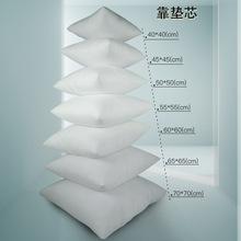 家紡家居用品 亞馬遜爆款方靠枕頭沙發床頭靠背墊白/灰色抱枕芯