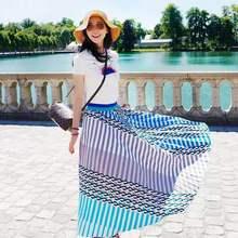 正品2019新韩雪明星同款套装雪纺印花连衣裙半身裙女夏款套装