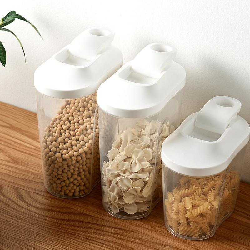 带盖五谷杂粮透明密封罐 厨房食品收纳储物罐 家用罐子粮食储存罐