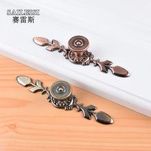 歐式櫥柜古銅單孔長條拉手 現代簡約衣柜抽屜把手鋁合金五金拉手