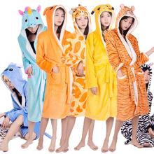 跨境新款天马卡通睡袍法兰绒独角兽浴袍睡衣家居服外贸速卖通爆款