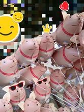 2019毕业典礼铝箔气球网红猪系列铝箔气球可爱宠物猪卡通铝膜气球