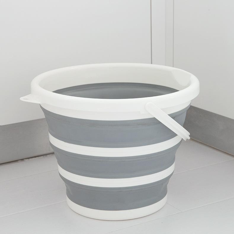 多用途硅胶折叠水桶 汽车伸缩清洁水桶 户外野营水桶 便携式